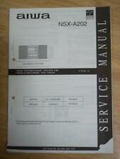 AIWA Service Manual for the NSX-A202 Cassette Receiver System~Repair