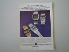 advertising Pubblicità 1979 SEIKO DIGITAL QUARTZ