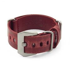 StrapsCo Ultra Distressed Leather Mens Watch Band Strap w/ Pre-V Buckle