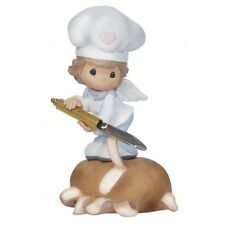 ## PRECIOUS MOMENTS Figurine KITCHEN HELPER FAIRY Peeling Potato Chef Cook ANGEL