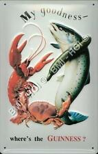 """Where's the Guinness ? Lobster Metal Sign LARGE 12"""" x 8"""" inches - iconic advert"""