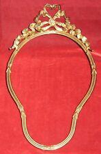 Ancien Grand Cadre Bronze laiton Style Louis XVI signé A. Villien XIX Tableau