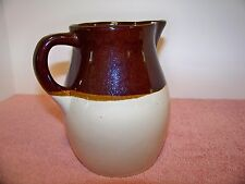 STONEWARE PITCHER Vintage R.R.P.CO.  Roseville OH Classic POTTERY EWER
