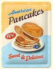 American Pancake dolce e delizioso piccolo metallo segno 200mm x 150mm (OG)