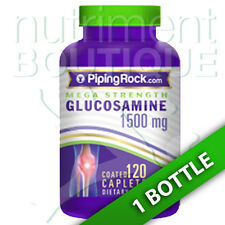Mega Glucosamine 1500 mg 120 Caps by Piping Rock - One Per Day- Triple Strength