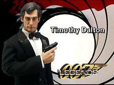 1/6 James Bond Clothing & Timothy Dalton Head Sculpt Roger Moore Pierce Brosnan