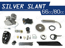 Silver Slant 66cc/80cc Bicycle Engine Kit Gas Motorized Bicycle