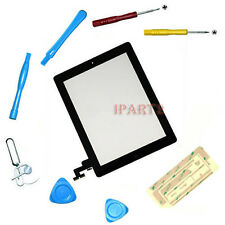 Front Touch Screen Glass Digitizer+ Home Button Assembly for iPad 2 Black +Tools