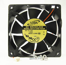 New 120mm 38mm Case Fan 12VDC 200CFM PC CPU Cooling 2wire 4 Screws Ball Bg 332*