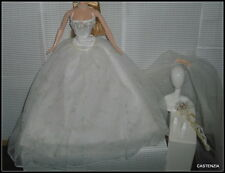 OUTFIT ROMANTIC WEDDING BRIDE GOWN VEIL SHOES BOUQUET BARBIE DOLL ENSEMBLE