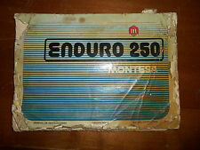 OEM Montesa Enduro 250 AHRMA Owners Book Owners Manual Printed In Spain