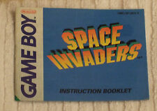 NINTENDO GAME BOY INSTRUCTION BOOK  (SPACE INVADERS - GAME) USED CONDITION