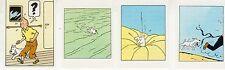TINTIN ET MILOU LOT DE 4 SUPERBES VIGNETTES CONCOURS BUBBLE GUM AU MIEL  (13)