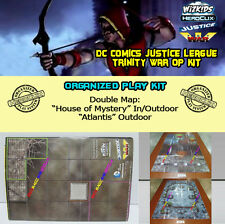 "HEROCLIX JUSTICE LEAGUE TW OP KIT: Mapa/Map ""House of Mystery"" / ""Atlantis"""