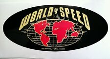 World of speed Bumper sticker decal hot rod vintage look nostalgia Memphis race