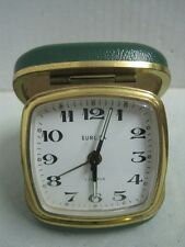 Antique desktop table clock Europa 2 Jewels made in Germany works