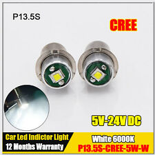 10X P13.5S 5W Maglite LED Bulb Upgrade Conversion for 6d or 6c Cell Torch 5V-24V