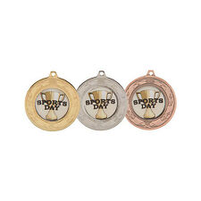 SPECIAL OFFER - 40 off 'BUDGET' 40mm MEDALS - FREE RIBBONS & CLUB BADGE CENTRES