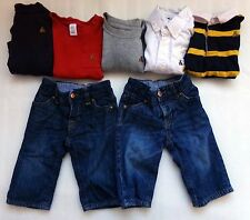 Boys Baby GAP Clothing Lot Outfit Set JEANS Teddy Bear Logo One-Piece Size 6-12M