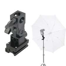 B Type Hot Shoe Flash Umbrella Holder Swivel Light Stand Bracket For Camera F7