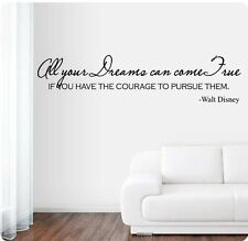"42"" All Your Dreams Can Come True Courage Pursue Walt Disney Wall Decal Sticker"