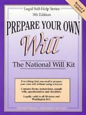 Prepare Your Own Will: The National Will Kit (Legal Self-Help Series)-ExLibrary