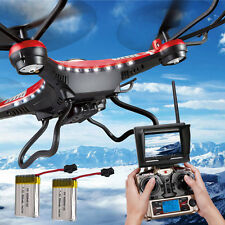 JJRC H8D 6-Axis Gyro 5.8G FPV RC Quadcopter Drone HD Camera+Monitor+2 Battery