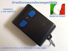 RADIOCOMANDO COMPATIBILE APRIMATIC MONOCAN. 30,900 TG1 TRICODE DIP SWITCH 9 VIE