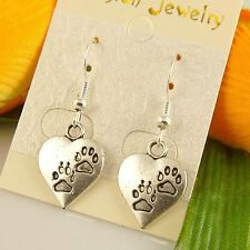 HOT Wholesale Lady 4 Pair/lot Charm Fashion Jewelry Silver Love Stud Earring NEW