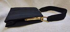 "1940's Vintage Genuine ""Annette"" Corde Black Textured Rayon Gimp Handbag 17017"