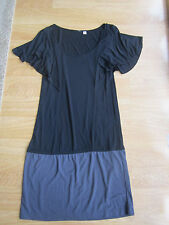 LADIES UNIQLO JERSEY TUNIC TOP BLOUSE SIZE XS FRILL SLEEVES MINI DRESS T-SHIRT
