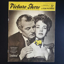 PICTURE SHOW & FILM PICTORIAL 2 Aug 1952 Laurence Olivier Jennifer Jones Carrie