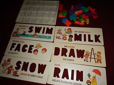 Fish Price 1972 Replacemen Magnetic Letters/Numbers, Tray & 6 Stencil Cards