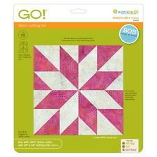 """AccuQuilt GO! Fabric Cutting Die LeMoyne Star 9"""" Finished 55453 Quilting Sewing"""