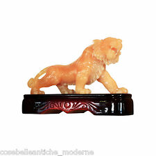 Scultura Leone in Onice Lion Onyx Sculpture Art Stone Statue CLASSIC HOME DESIGN