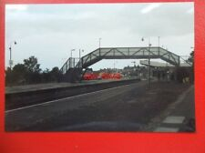 PHOTO  BARRY RAILWAY STATION  & FOOTBRIDGE 11/6/95