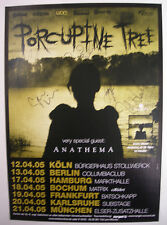PORCUPINE TREE CONCERT TOUR POSTER 2005 DEADWING AUTOGRAPHED BY THE BAND
