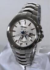 Seiko Coutura Mens Kinetic Stainless Steel Silver SRN063