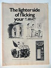 1982 Print Ad BiC Lighters ~ The Lighter Side of Flicking Your Bic Comic ART