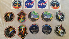Lot of 14 - NASA Space Shuttle Crew Patch Stickers STS Collector's