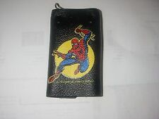 MARVEL AMAZING SPIDERMAN BLACK  CRACKLE FINISH  KEY CASE HONG KONG 1978