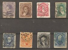 ARGENTINA-1867/73-GREAT PERSONAGES-08 DIF. stamps-COMPLETE SET-Y&T nr. 16 A 23