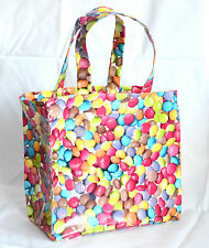 Handmade Cotton/Vinyl mini tote Lunch, craft, Childrens Bag - Sweets