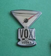 Vox Vodka in a Martini Glass Advertising Lapel Pin