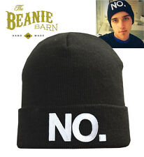 NO beanie EMBROIDERED worn by beau brooks the janoskians dirty pig alfie deyes