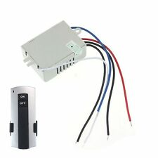 220V Wireless 1Way Light Remote Control Switch ON/OFF Anti-interference