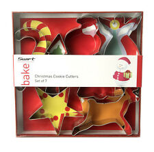 Swift 7 Christmas Cookie Cutters Candy Santa Angel Bell Star Reindeer Xmas Tree