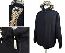 AUTH Burberry London XL Technical Fabric Jacket Nova Check Quilted Lining Hood