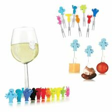 Vacu Vin Party People Set - Wine Glass / Drink & Snack / Appetizer Markers
