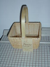 """""""6 inch square basket"""" by Nantucket Hand Crafted Baskets Natural, Wood"""